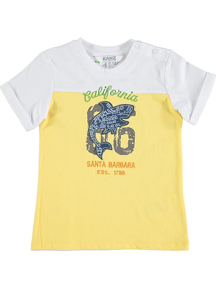 Kanz Shirt wit/geel