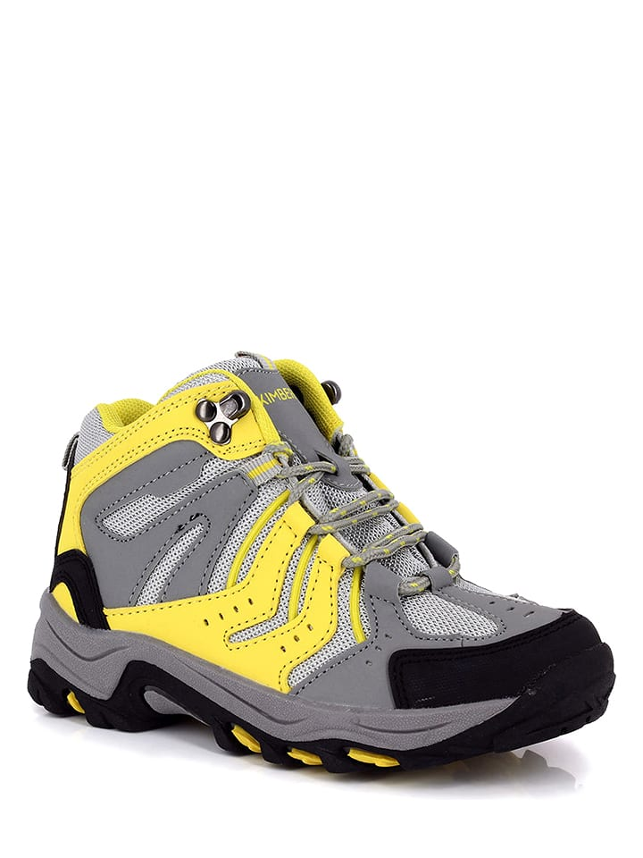 """Kimberfeel Buty trekkingowe """"Kala"""" w kolorze żółto-szarym"""