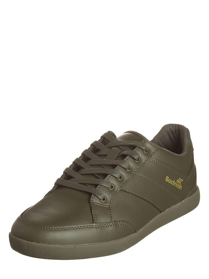 """Boxfresh Skórzane sneakersy """"Creeland"""" w kolorze zielonym"""
