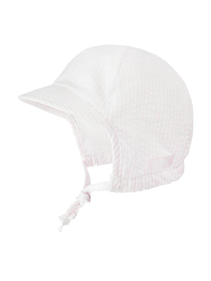 Döll Czapka w kolorze biało-jasnoróżowym