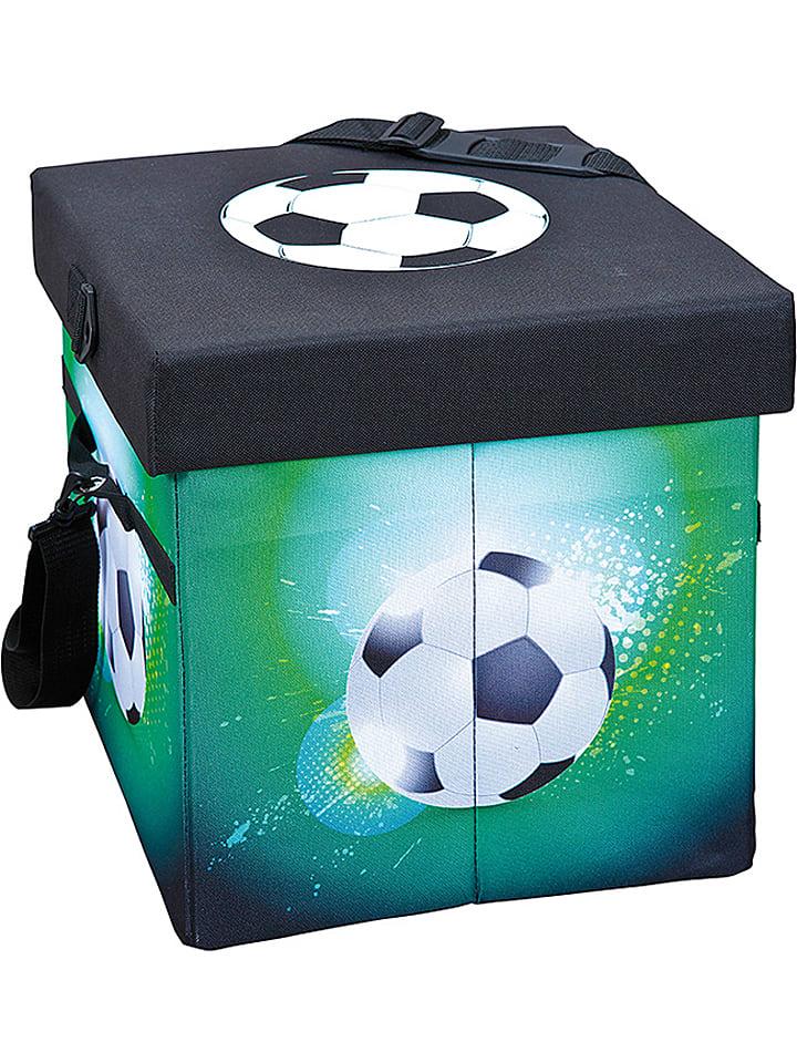 """Inter Link SAS Koelbox """"Fußball"""" zwart/groen - (B)37 x (H)36 x (D)37 cm"""