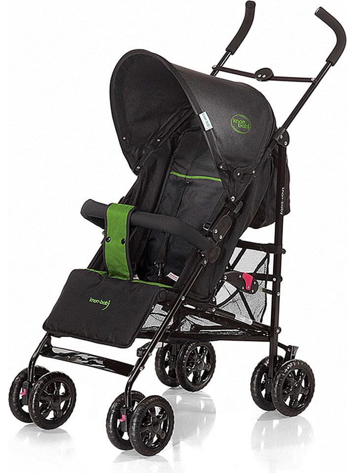 """Knorr-baby Spacerówka """"Commo Sport"""" w kolorze czarno-zielonym"""