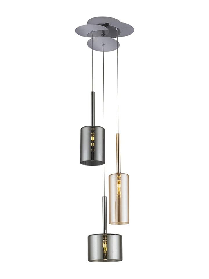 Dom z pomysłem Lampa wisząca w kolorze miodowo-srebrnym - KEE A++ (A++ do E) - Ø 23 cm