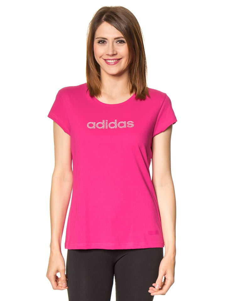Adidas T-shirt - fuchsia