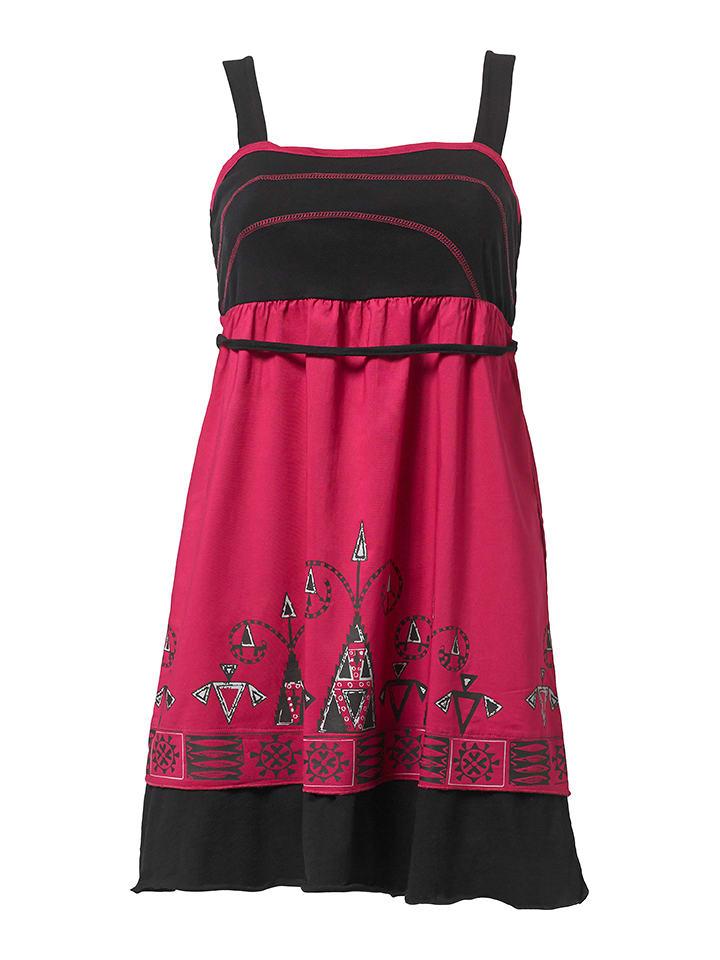 KÉAWA Sukienka w kolorze różowo-czarnym