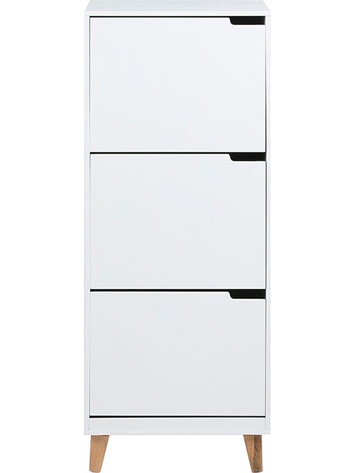 """AC Design Szafka """"Mitra"""" w kolorze białym na buty - 47 x 133,5 x 30 cm"""