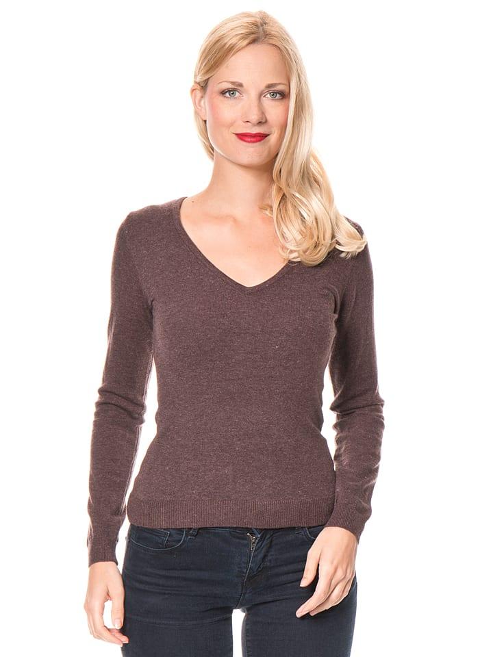 ASSUILI Sweter w kolorze brązowym