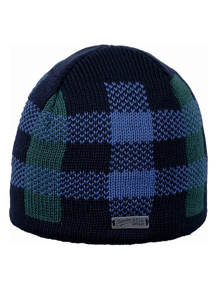 Döll Dzianinowa czapka w kolorze granatowym