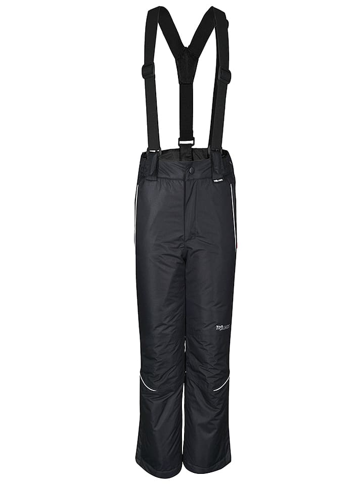 """Trollkids Spodnie narciarskie """"Holmenkollen Slim Fit"""" w kolorze czarnym"""