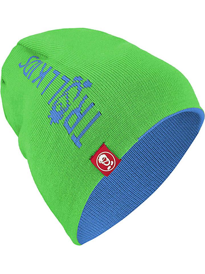 Trollkids Dwustronna czapka w kolorze zielono-niebieskim