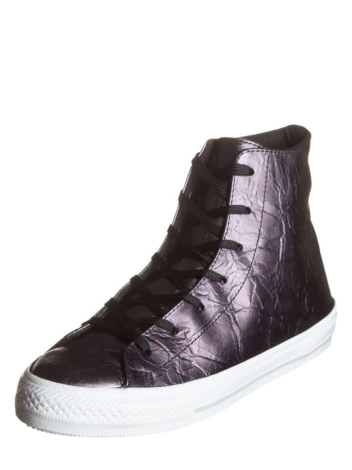 Converse Leren sneakers antraciet/wit