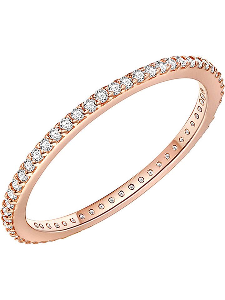 Carat 1934 Rosévergold. Silber-Ring mit Zirkonias