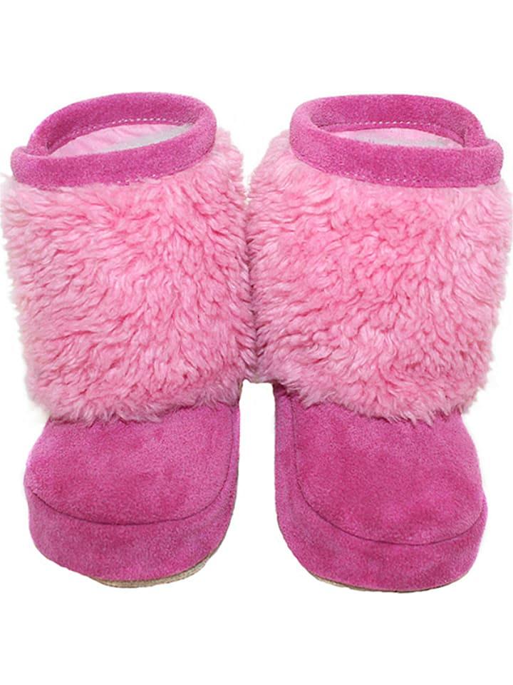Hobea Chaussons d'éveil d'hiver - rose