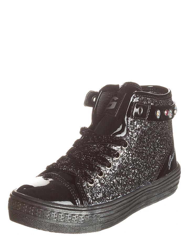 "Grünland Junior Sneakersy ""Boop"" w kolorze czarnym"