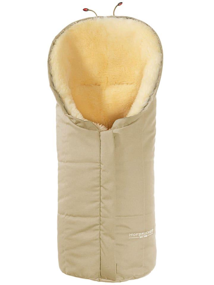 """Hofbrucker Lammfell-Fußsack """"Eskimo"""" in Beige - (L)80 x (B)35 cm"""