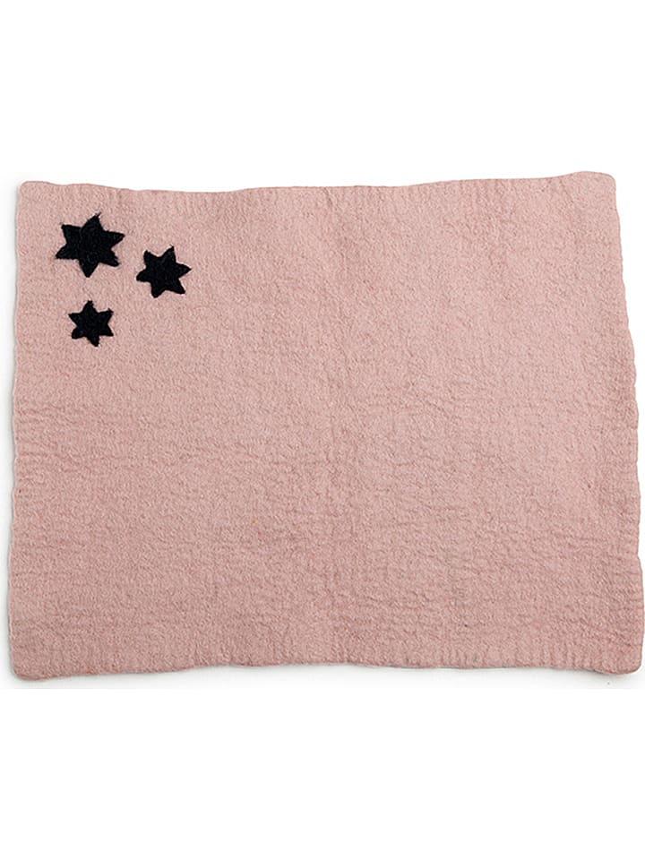 """Én Gry & Sif Podkładka stołowa """"Star"""" w kolorze jasnoróżowym - 45 x 33 cm"""