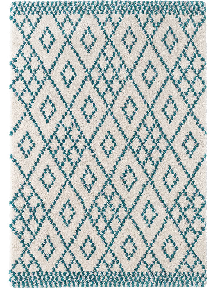 Mint Rugs Hochflor Teppich Chess In Creme Blau Limango Outlet