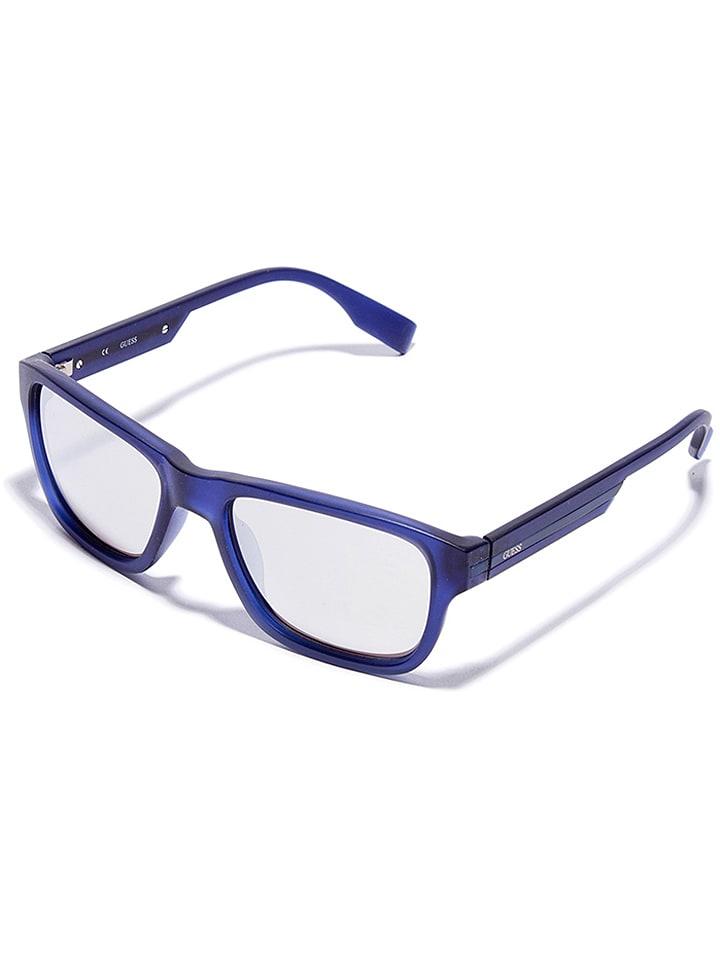 Guess Herren-Sonnenbrille in Blau/ Silber