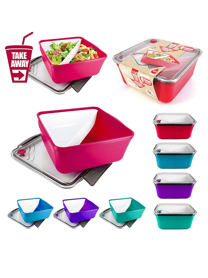 Lunchbox - 19,5 x 8,7 x 18,7 cm (couleur aléatoire)