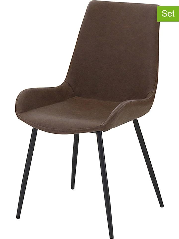 """Studio Eetkamerstoel """"Corte"""" bruin - (B)49 x (H)84 x (D)60 cm"""