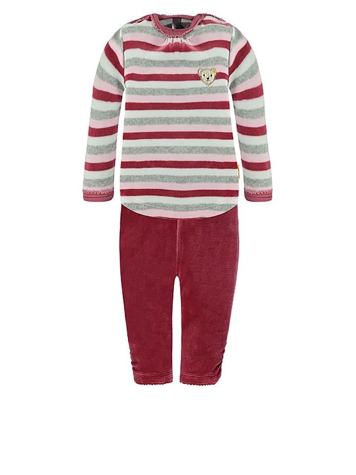Steiff Pyjama in Pink/ Rosa/ Grau