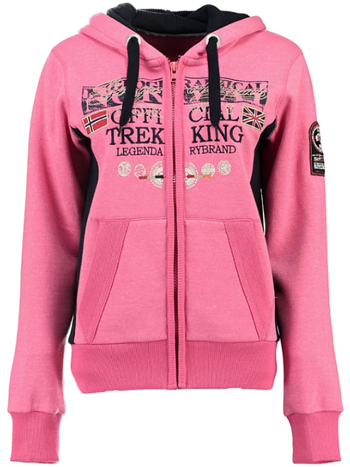 """Geographical Norway Sweatvest """"Gladys"""" roze"""
