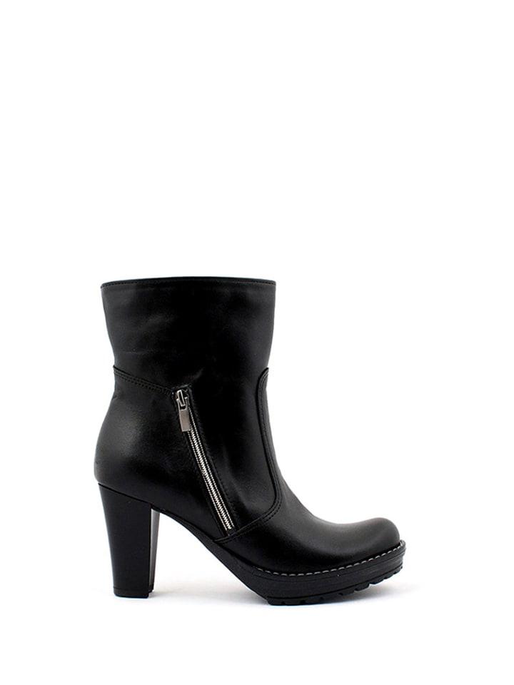 Zapato Skórzane botki w kolorze czarnym