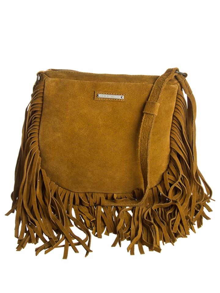 Pepe Jeans Skórzana torebka w kolorze jasnobrązowym - (S)22 x (W)19 x (G)4 cm