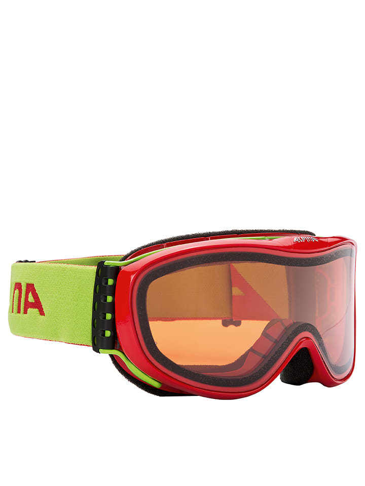 "Alpina Ski-/ Snowboardbrille ""Challenge S2.0 QLH"" in Rot/ Orange"