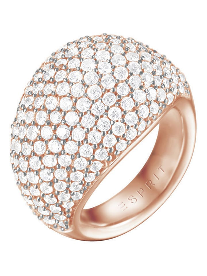 ESPRIT Rosévergold. Ring mit Zirkonias