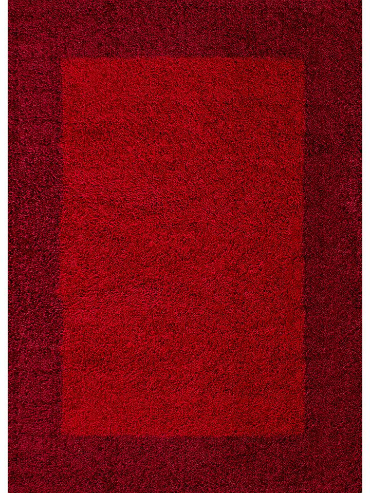 "Hoogpolig tapijt ""Life Shaggy"" rood/donkerrood"
