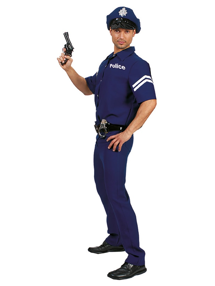 Funny Fashion 4-częściowy kostium w kolorze niebieskim