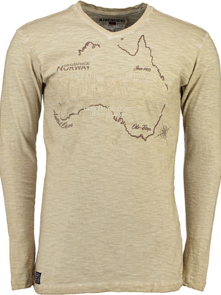 """Geographical Norway Koszulka """"Jebel"""" w kolorze beżowym"""