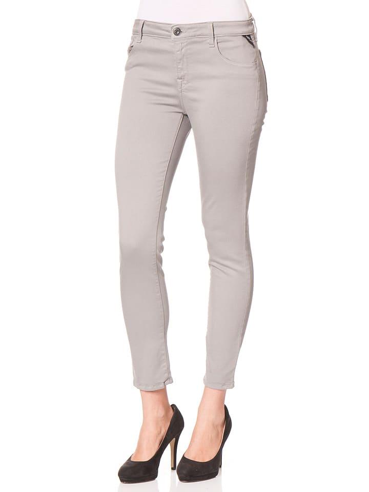 Replay Dżinsy - Skinny fit - w kolorze szarym