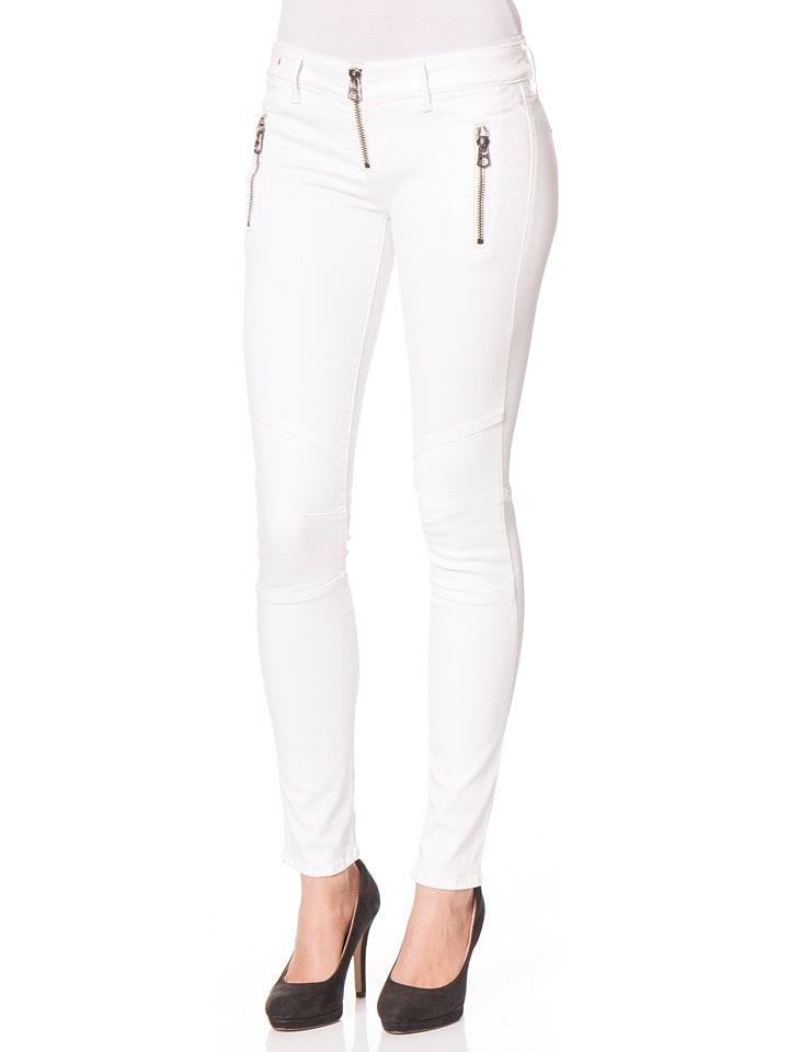 Replay Dżinsy - Skinny fit - w kolorze białym