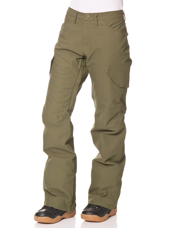 """Burton Spodnie narciarskie """"Fly"""" w kolorze oliwkowym"""