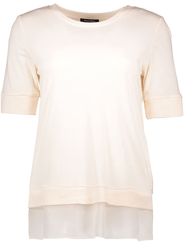 Marc O'Polo Koszulka w kolorze beżowym