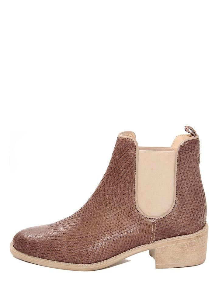 huge discount 0e914 0bfc0 EYE - Leder-Chelsea-Boots in Braun | limango Outlet