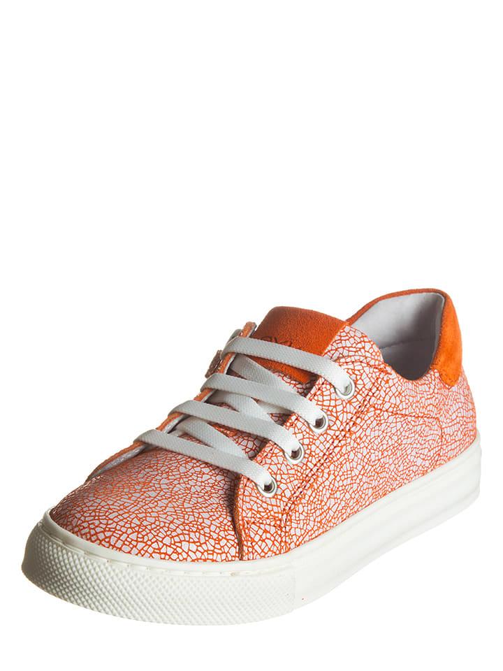 EXK Leder-Sneakers in Orange