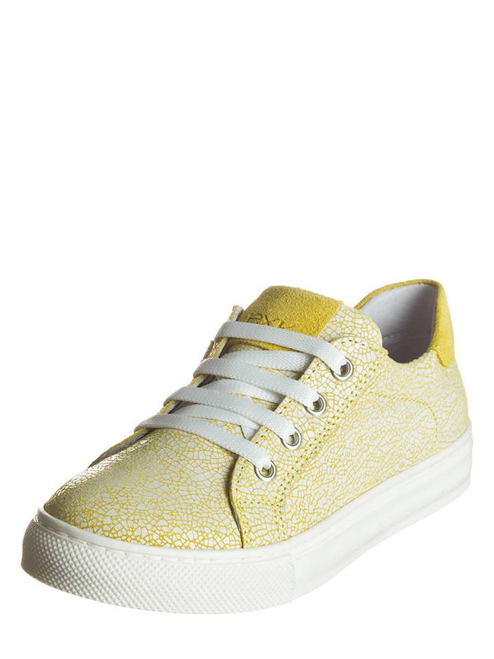 EXK Leder-Sneakers in Gelb
