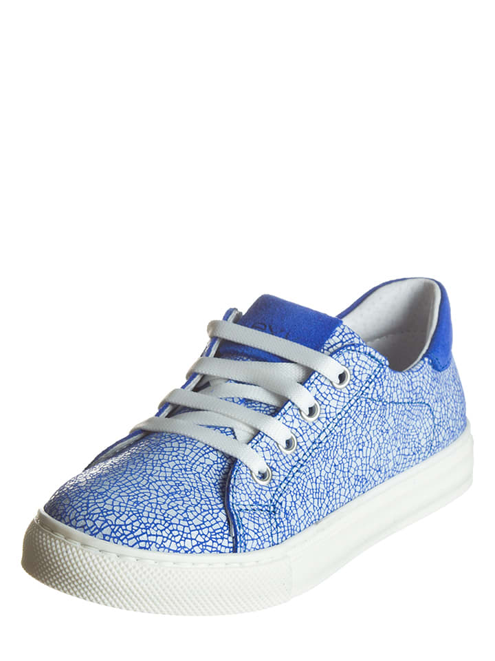 EXK Leder-Sneakers in Blau