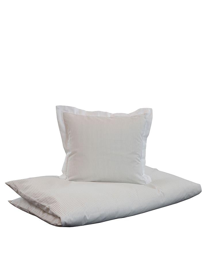 Dozy Bettwäsche Set Stripe In Beige Weiß Limango Outlet