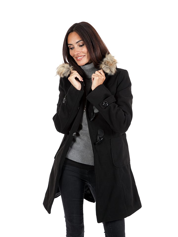 Winter Time Mantel zwart