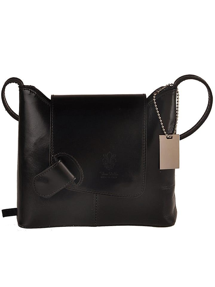 """Florence Bags Skórzana torebka """"Sabu"""" w kolorze czarnym - 23 x 20 x 6 cm"""