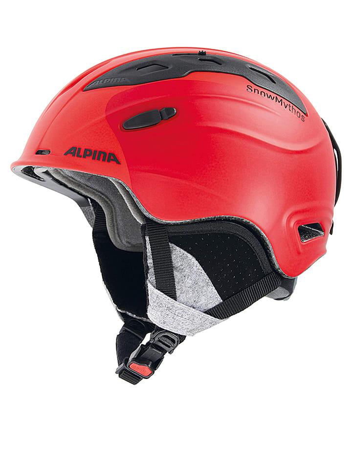 """Alpina Kask narciarski """"Snow Mythos"""" w kolorze czerwonym"""