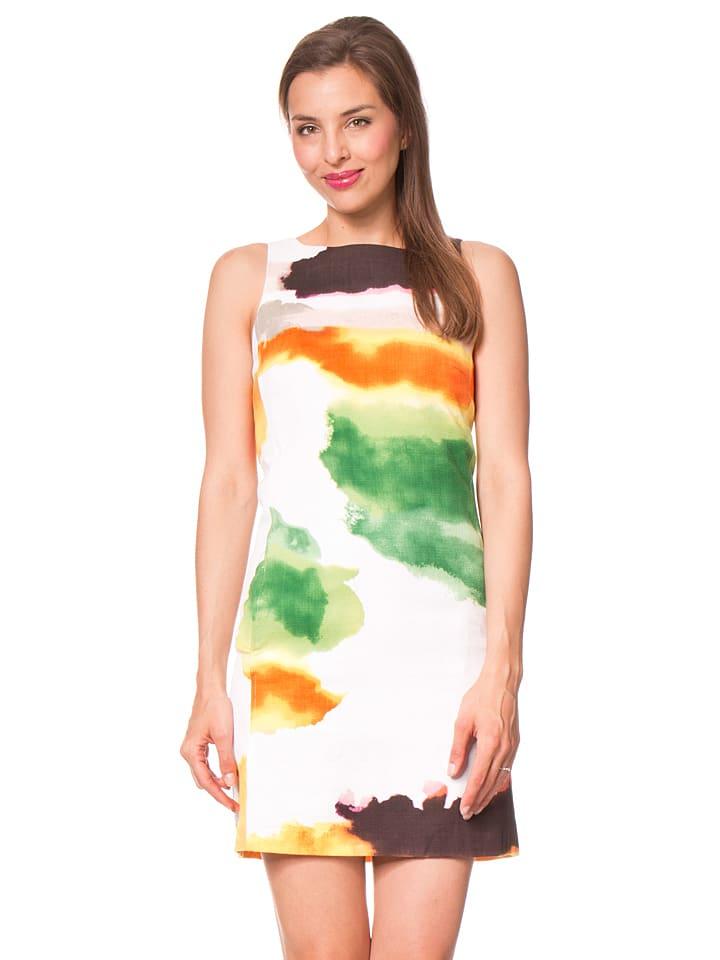 """Desigual Sukienka """"Nilina"""" w kolorze białym ze wzorem"""