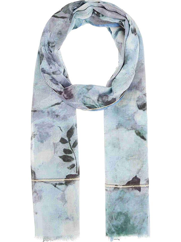 Codello Szal w kolorze błękitno-biało-antracytowym - 180 x 100 cm