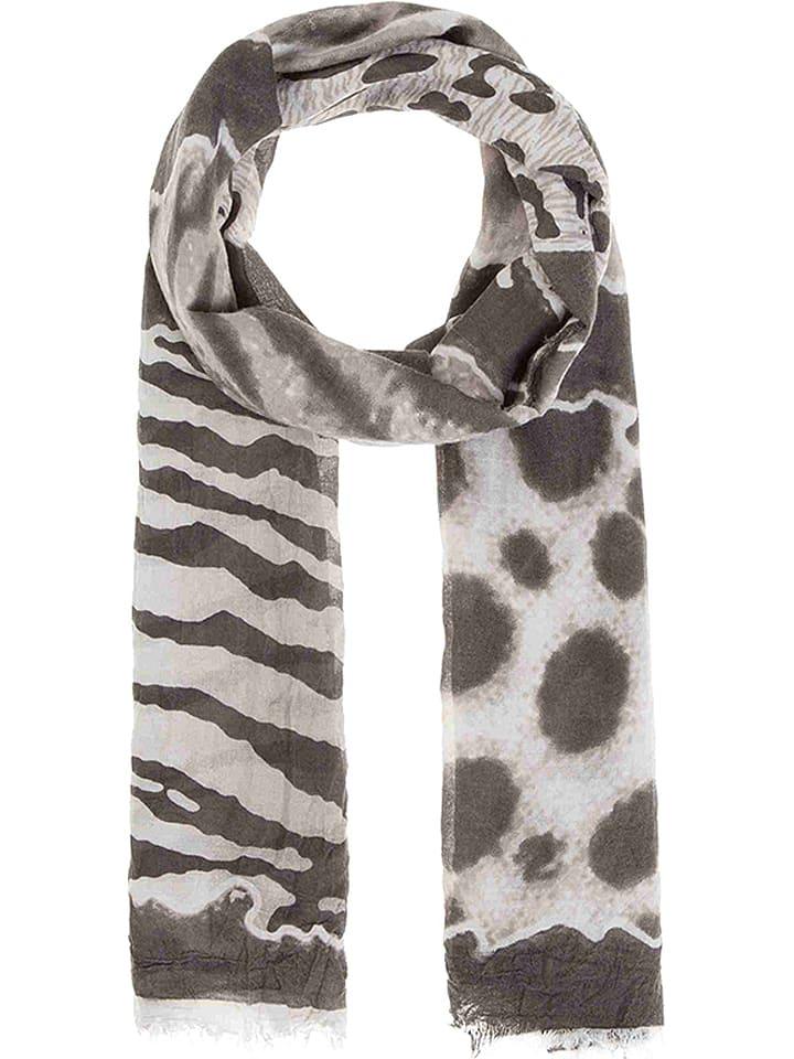 Codello Szal w kolorze ciemnobrązowo-kremowym - 180 x 90 cm