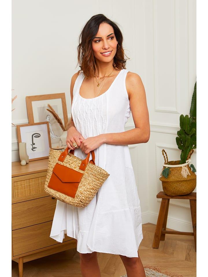 """100% Leinen Lniana sukienka """"Mykonos"""" w kolorze białym"""
