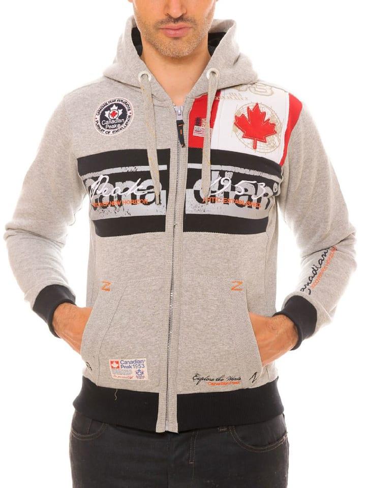 """Canadian Peak Sweat zippé """"Face"""" - gris"""